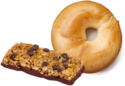 bagel and granola bar