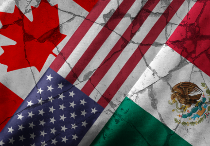 US Canada Mexico flags
