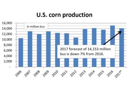 US corn production